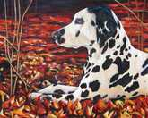 Abigail dog painting by artist Kate Green