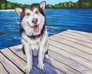 Chuck dog painting by artist Kate Green