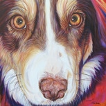 Kaelee dog painting by artist Kate Green