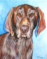 Katie dog portrait by artist Kate Green