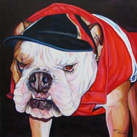 Bulldog Ramsay Painting by artist Kate Green