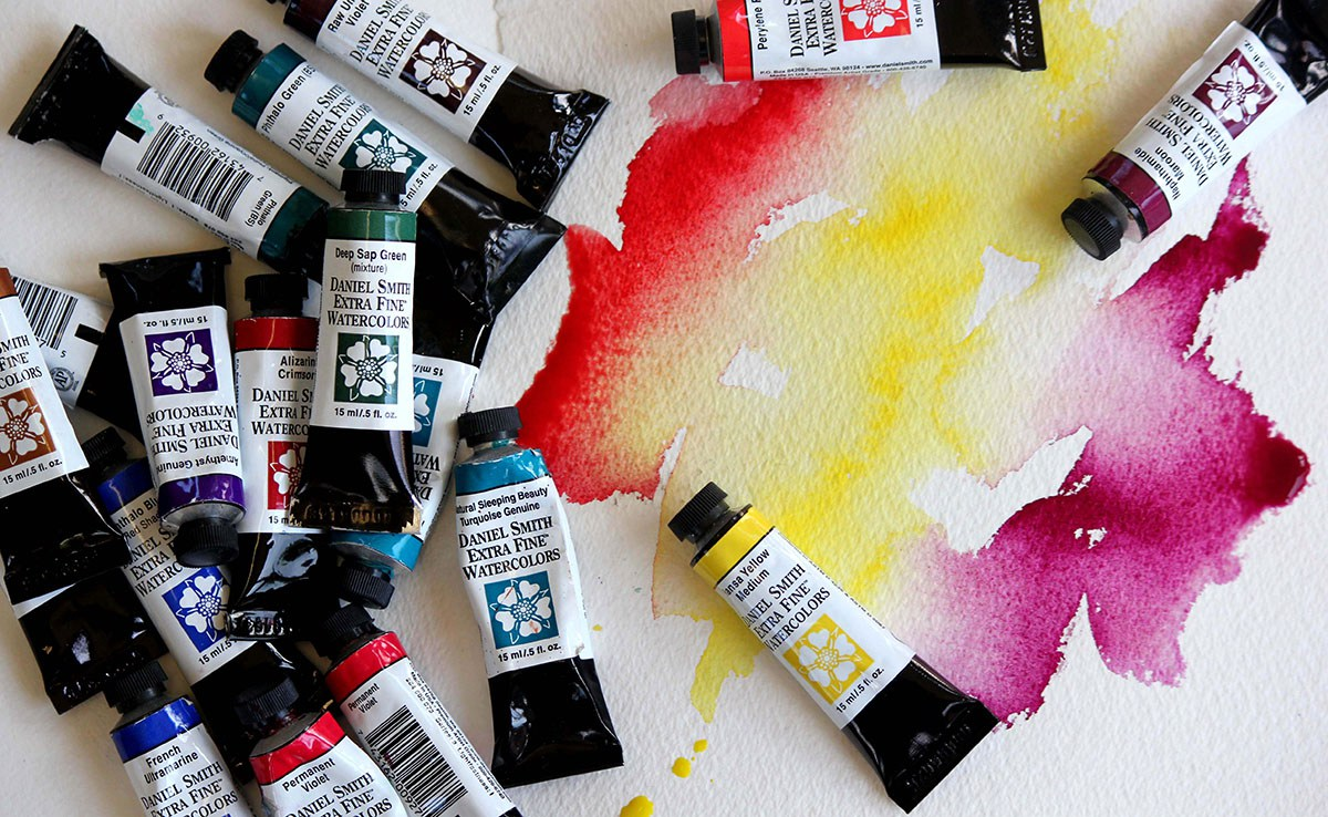 what is the difference between acrylic paint watercolour paint and